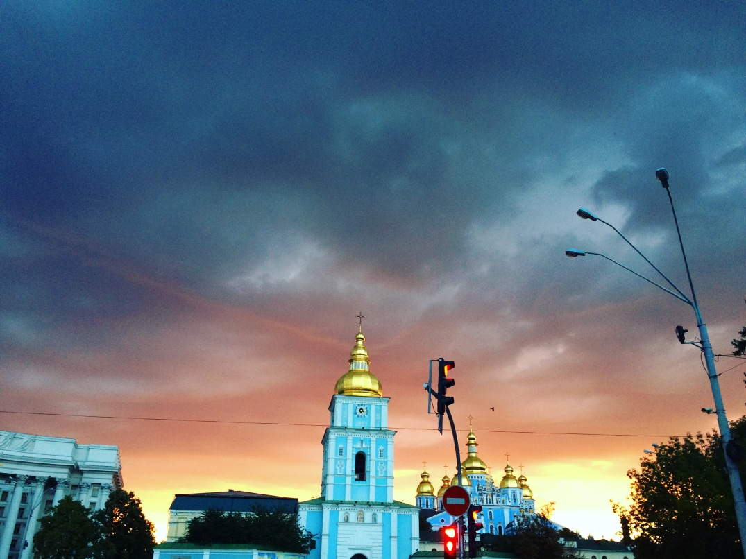 sunrise in Kiev